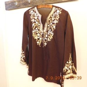 Vintage Embroidered Tunic *No Maker/Fabric Tag*